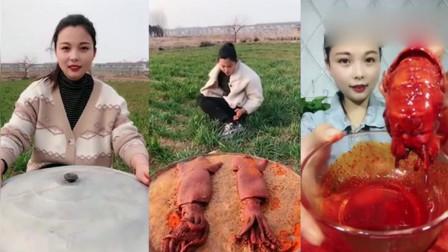 美食吃播:这条八爪鱼是成精了吗,这真的是我见过最大的了