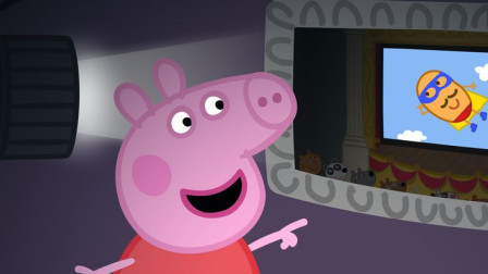 小猪佩奇去电影院看超级土豆先生电影 简笔画