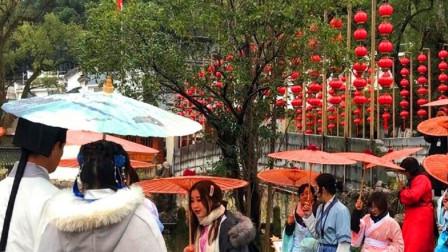 唯一一个穿汉服才能够进入的园林,游客打招呼用古语?穿越了吗?