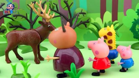 玩乐故事会 乔治追着小老鼠进灌木丛跟佩奇走散好着急
