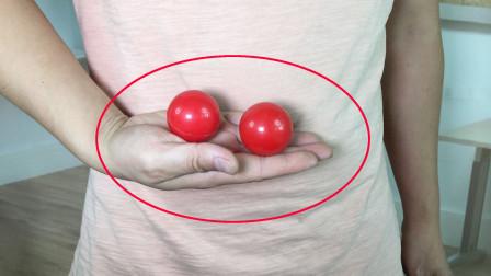 空手瞬间消失2个小球,没有任何机关,学会后骗朋友玩