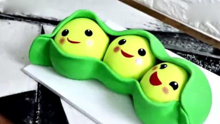 豌豆还有这么多表情包,原来是翻糖做的蛋糕,创意满分!