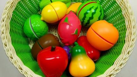 儿童玩具认知:认识水果的名字 学习水果的英语名字
