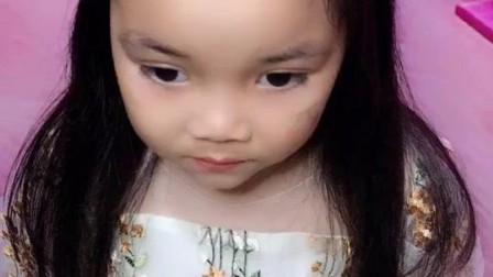 儿童编发教程:每个女孩都有一个公主梦,给女儿扎这款发型吧,美美的