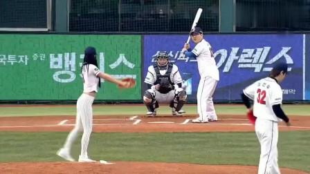 韩国女星Clara李成敏,这波棒球开球什么水准?反正我是不知道了