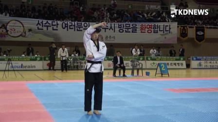 2019韩国大学生跆拳道品势选拔男子第二名
