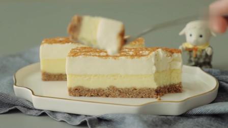 芝士蛋糕条-淡奶油+饼干粉,奶香糯甜,浓郁细腻,静享层层美味