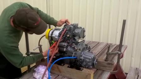 机械试验船用发动机淘汰利用,声音听起来很舒服