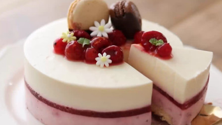 免烤覆盆子芝士蛋糕(无蛋)-酸酸甜甜的覆盆子含丰富维C,炎炎夏日,来一块冷藏后的蛋糕,沁人心脾,瞬间清凉