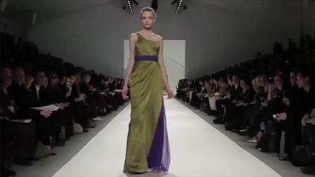 欧美时装秀,美女走路带风,连衣裙飘逸,我爱了!