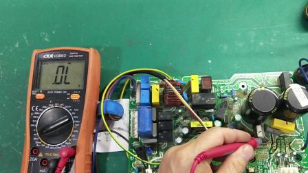 美的变频空调外机板P0故障维修实例