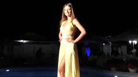 世界小姐大赛模特走秀,高挑超模,非常吸引人!