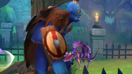 饥饿龙:双头龙挑战蓝巨人,好像有点吃力嚄