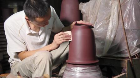 宜兴紫砂花盆制作流程