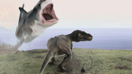 7分钟看美国神剧《鲨卷风6》恐龙果然不如会飞的鲨鱼