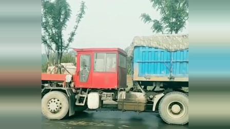伪装成拖拉机的半挂车,曾经的老斯太尔,现在成了这副模样!