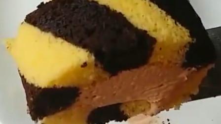 美食分享,这款大理石海绵蛋糕,真是视觉与味觉的双重享受