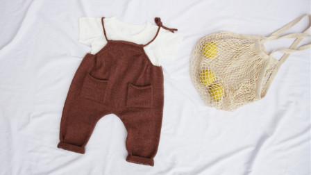 【奶油】1/2集 哈伦针织背带裤  乖诺诺原创编织 新手零基础棒针视频教程