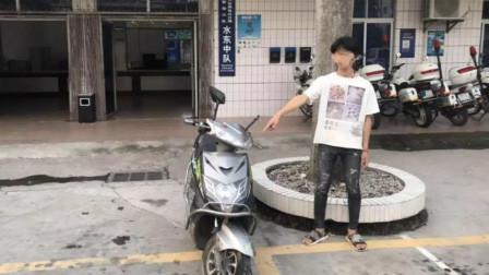 """男子为寻求刺激摩托上站立""""炫车技"""" 发朋友圈后被刑拘"""