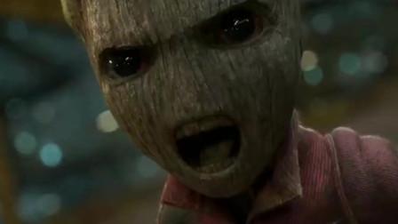 银河护卫队:格鲁特最疯狂的一次!暴怒表情萌到爆表!一招秒趴对手!