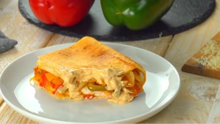 「烘焙教程」墨西哥风味披萨饼,用料丰富好吃到停不下来