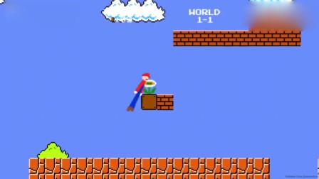 超级玛丽:会功夫的超级玛丽救公主,不扔火球开飞蘑菇