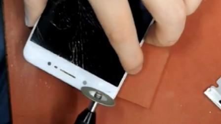 双面侠光辉通讯现场直播X7PLUS拆机换外屏屏幕总成全过程教程