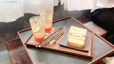 弘大美食|超级好吃的厚烧三明治|极简风的白色咖啡屋