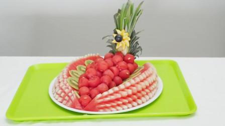 家里来客人了,教学水果拼盘,吃起来不脏手不流汁,人人都夸好