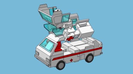 """《变形金刚》自制3D特效变身细节动画!""""MP30救护车"""""""