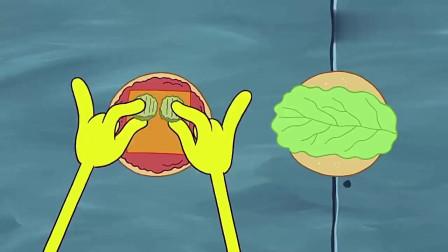 海绵宝宝:小海绵齐上阵,一起洗盘子的样子,真是可爱啊