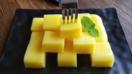 芒果牛奶冻最快速的做法,不用烤箱不用蒸,简单一做,比买的还好吃