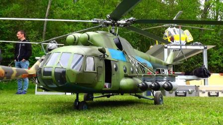 大型航模之米-8直升机飞行表演