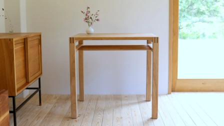 【木工家具DIY】手把手教你制做一张实木小桌