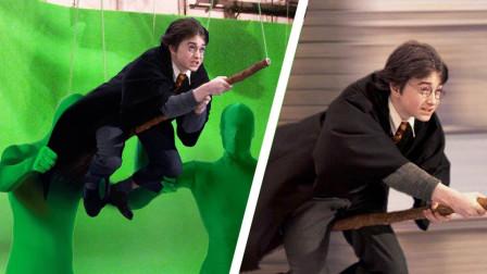 哈利波特没有飞行扫帚会怎样?对着绿幕,真的是全靠演技!