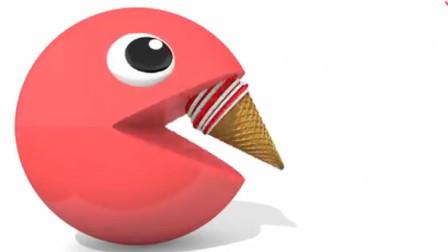 玩具总动员:大眼萌吃进彩色冰淇淋变颜色
