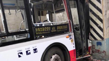 突发!成都一公交失控撞上桥墩 多名乘客受伤