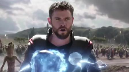 所有超级英雄干掉灭霸的小弟,都不及雷神一锤子干掉的多
