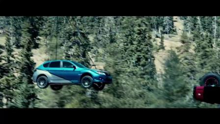 速度与激情7:赛车还能这样玩?高空跳伞赛车完美落地