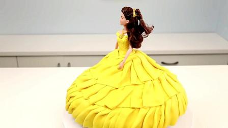 糕点师傅为8款迪士尼公主设计礼服蛋糕,又精致又美味