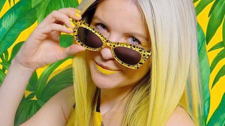 """美女被""""黄色""""吸引,常年沉迷于此,网友:太黄了!"""
