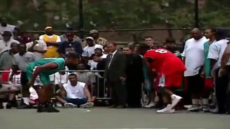 科比2002年在纽约洛克公园打街球,简直无敌!