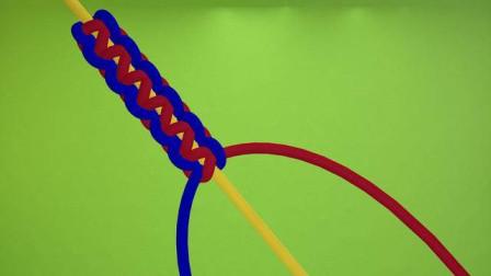 双向平结怎么编,基础学教程,中国结编绳入门编法
