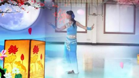 谢春燕傣族舞广场舞月亮升起来 原创...