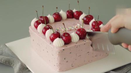 樱桃奶油蛋糕 粉嫩甜腻,口感顺滑,可选应季食材,儿童生日首选