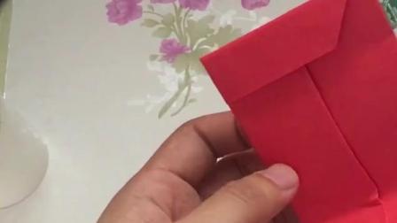 创意手工:折纸教程,自制大红包,最简单的红包折纸