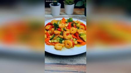西兰花虾仁彩蔬丁, 食材与人一样, 多花心思就会变得好看