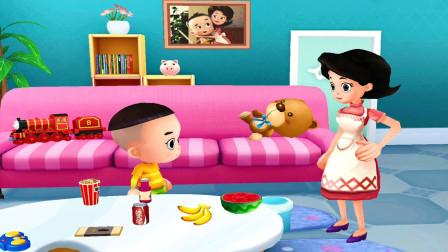 大头儿子和小头爸爸儿童游戏 第一季 与大头儿子学习如何辨别垃圾食品和健康食品