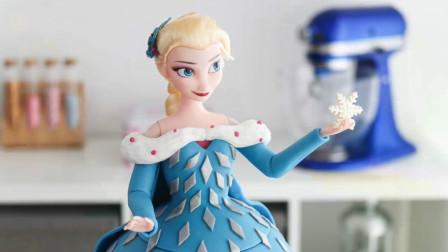 超美腻的迪士尼爱莎公主翻糖蛋糕来袭!简直是100%神还原呀!