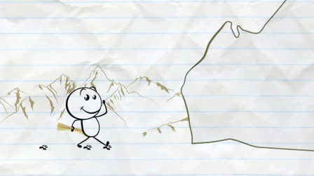 搞笑铅笔动画,铅笔男孩外出探险,去荒郊野外寻找宝藏的入口